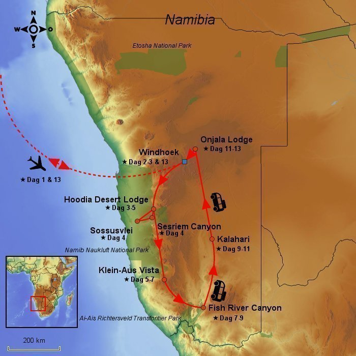 14 dage, Sossusvlei & Fish River Canyon